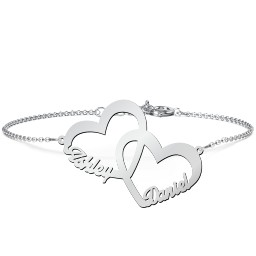Interlocked in Love Name Bracelet