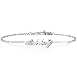 The Flourish Name Bracelet