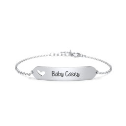 Engravable Baby Bracelet with Heart