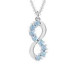 8 Stone Infinity Pendant