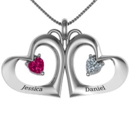 """Gemini"" Touching Hearts Pendant"