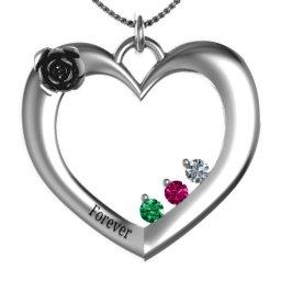 """Corsage"" Rose Heart Pendant"