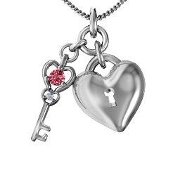 """Treasure"" Heart with Key Pendant"