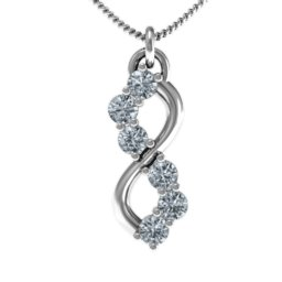 Six Stone Infinity Pendant