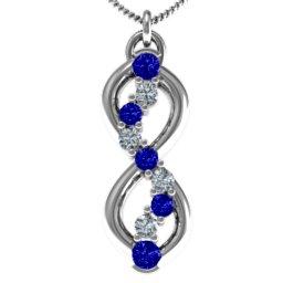 Nine Stone Infinity Pendant