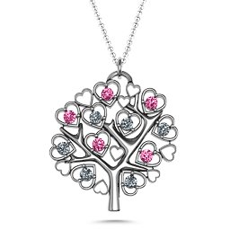Heart Family Tree Pendant