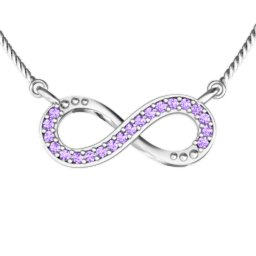 Horizontal Infinity Pendant with Accents
