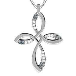 Stylish Curved Cross Pendant