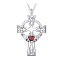 Claddagh Celtic Cross Pendant