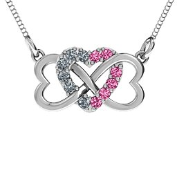 Triple Heart Infinity Pendant