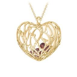 Organic Caged Hearts Pendant