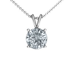 Graceful Round Solitaire Pendant