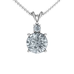 Graceful Round Solitaire with Accent Pendant