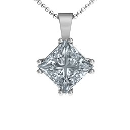 Elana Princess Cut Pendant