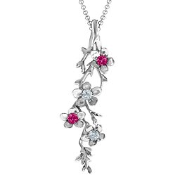 Cherry Blossoms in Bloom Branch Pendant