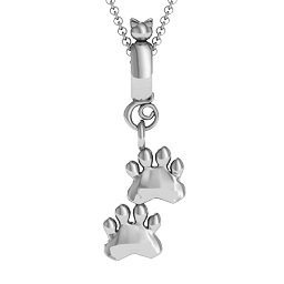 Cat and Paws Pendant