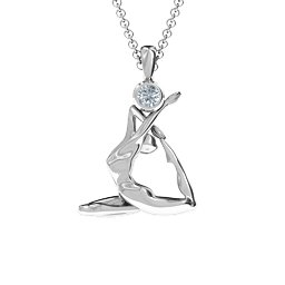 The One-Legged King Pigeon Pose Pendant