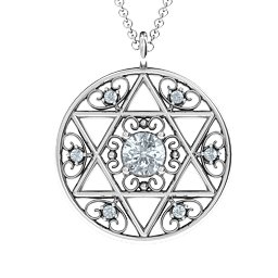 Star of David with Filigree Pendant