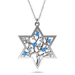 Tree of Life in Star of David Pendant