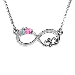 Double the Love Infinity Pendant