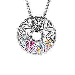 Endless Love Caged Stones Pendant