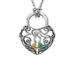 True Love's Lock Caged Pendant