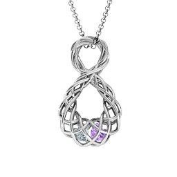 Caged Infinity Pendant