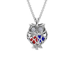 Wise Owl Caged Pendant