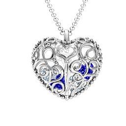 Filligree Lock & Key Heart Cage Pendant