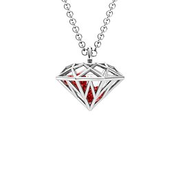 Diamond Cage Pendant with 1 - 4 Gemstones
