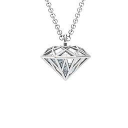 Diamond Cage Pendant with 1 - 4 Gemstones