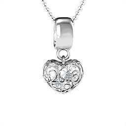 2016 Heart Detail Caged Pendant