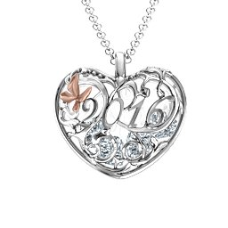 2016 Butterfly Heart Cage Pendant