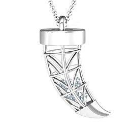 Elegant Horn Engravable Cage Pendant