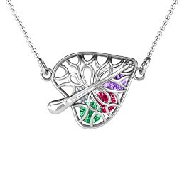 Winds of Love Cage Leaf Pendant