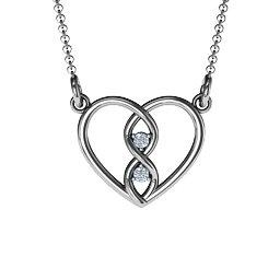 Entwined Infinity Heart Necklace