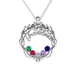 Grandma's Love Family Tree Pendant