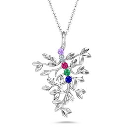 Roots Of Love 5-Stone Family Tree Necklace