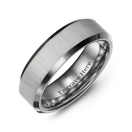 Mens Tungsten Wedding Bands.Men S Tungsten Rings Personalised For Him Jewlr