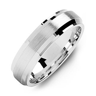 Jewelry & Watches Titanium Ridged Edge 6mm Brushed Wedding Ring Band Size 14.50 Classic Flat Engagement & Wedding