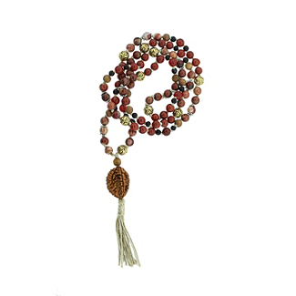 Protection and Comfort Mala with Gold Bead