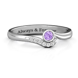 Low Wave Ring with Accents