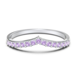 Tiara Accented Stacking Band