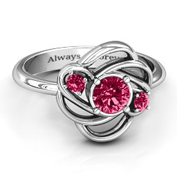 Multi Stone Love Knot Ring