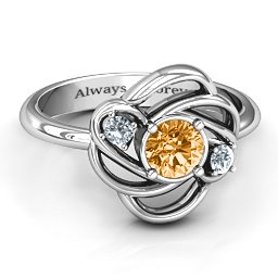 Multi Stone Love Knot Ring