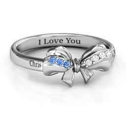 Fancy Stone Set Bow Ring